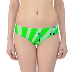 Music Notes Light Line Green Hipster Bikini Bottoms by Mariart