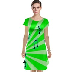 Music Notes Light Line Green Cap Sleeve Nightdress by Mariart