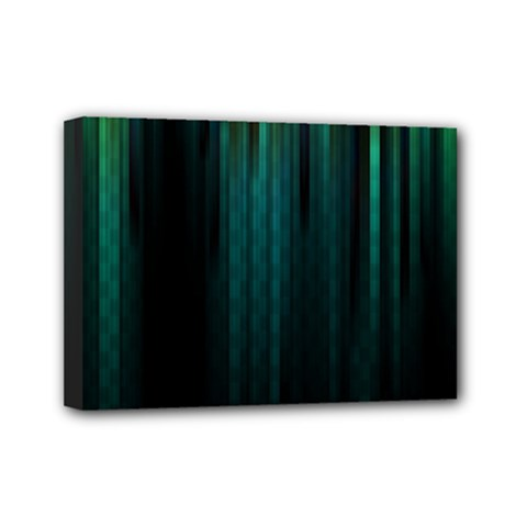 Lines Light Shadow Vertical Aurora Mini Canvas 7  X 5  by Mariart