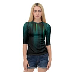 Lines Light Shadow Vertical Aurora Quarter Sleeve Tee by Mariart