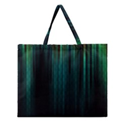 Lines Light Shadow Vertical Aurora Zipper Large Tote Bag