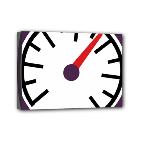 Maker Measurer Hours Time Speedometer Mini Canvas 7  X 5  by Mariart