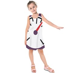 Maker Measurer Hours Time Speedometer Kids  Sleeveless Dress by Mariart
