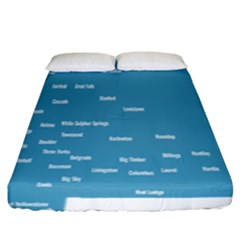 Peta Anggota City Blue Eropa Fitted Sheet (king Size) by Mariart