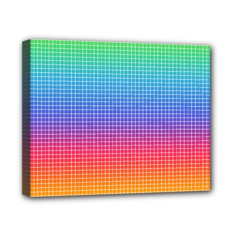Plaid Rainbow Retina Green Purple Red Yellow Canvas 10  X 8  by Mariart