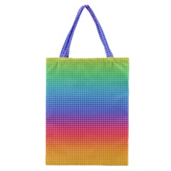Plaid Rainbow Retina Green Purple Red Yellow Classic Tote Bag by Mariart