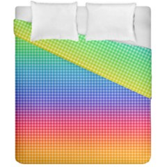 Plaid Rainbow Retina Green Purple Red Yellow Duvet Cover Double Side (california King Size) by Mariart