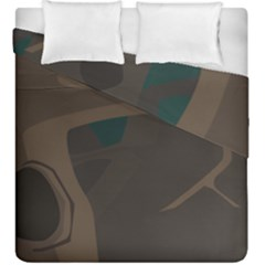 Tree Jungle Brown Green Duvet Cover Double Side (king Size) by Mariart