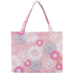Scrapbook Paper Iridoby Flower Floral Sunflower Rose Mini Tote Bag by Mariart