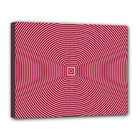 Stop Already Hipnotic Red Circle Canvas 14  X 11  by Mariart