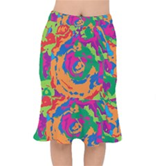 Abstract Art Mermaid Skirt