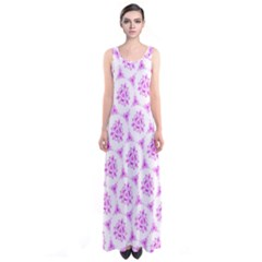 Sweet Doodle Pattern Pink Sleeveless Maxi Dress