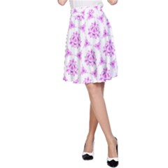 Sweet Doodle Pattern Pink A Line Skirt