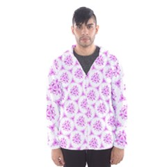 Sweet Doodle Pattern Pink Hooded Wind Breaker (men)