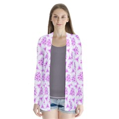 Sweet Doodle Pattern Pink Cardigans