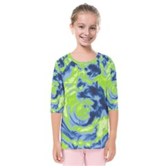 Abstract Art Kids  Quarter Sleeve Raglan Tee