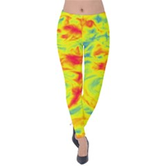 Abstract Art Velvet Leggings