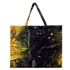 Abstract Design Zipper Large Tote Bag by ValentinaDesign