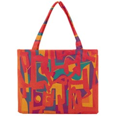 Abstract Art Mini Tote Bag by ValentinaDesign
