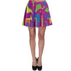 Abstract Art Skater Skirt by ValentinaDesign