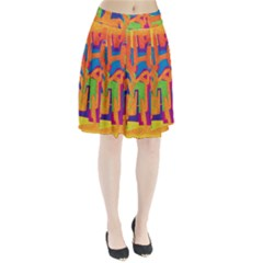 Abstract Art Pleated Skirt