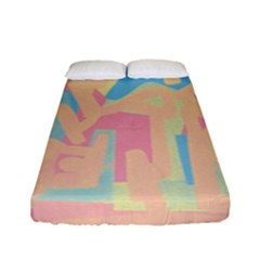 Abstract Art Fitted Sheet (full/ Double Size) by ValentinaDesign
