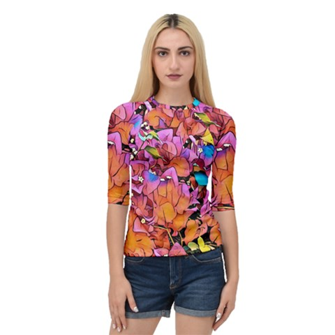Floral Dreams 15 Quarter Sleeve Tee by MoreColorsinLife