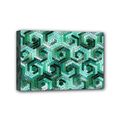 Pattern Factory 23 Teal Mini Canvas 6  X 4  by MoreColorsinLife