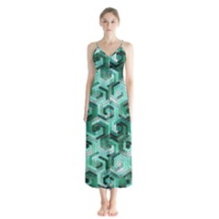 Pattern Factory 23 Teal Chiffon Maxi Dress by MoreColorsinLife