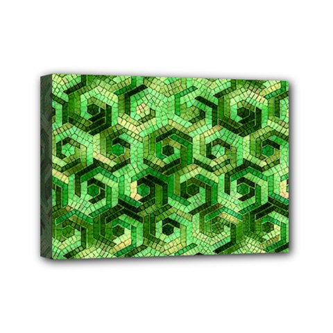 Pattern Factory 23 Green Mini Canvas 7  X 5  by MoreColorsinLife