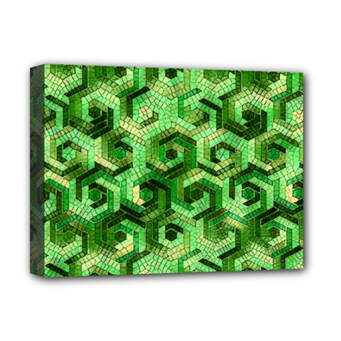 Pattern Factory 23 Green Deluxe Canvas 16  X 12   by MoreColorsinLife