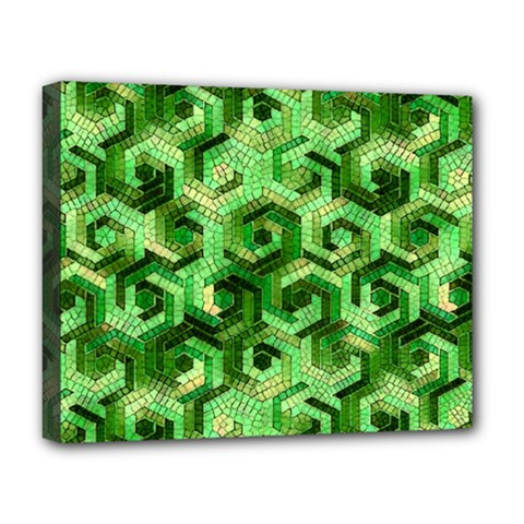 Pattern Factory 23 Green Deluxe Canvas 20  X 16   by MoreColorsinLife