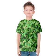Pattern Factory 23 Green Kids  Cotton Tee by MoreColorsinLife