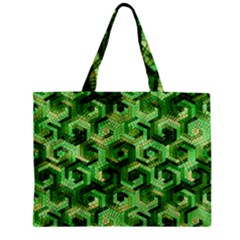 Pattern Factory 23 Green Zipper Mini Tote Bag by MoreColorsinLife