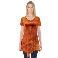Fantastic Wood Grain Short Sleeve Tunic  by MoreColorsinLife