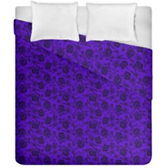 Roses Pattern Duvet Cover Double Side (california King Size)
