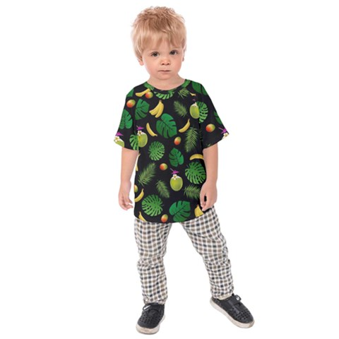 Tropical Pattern Kids  Raglan Tee by Valentinaart