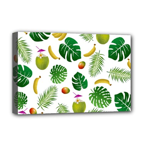 Tropical Pattern Deluxe Canvas 18  X 12   by Valentinaart