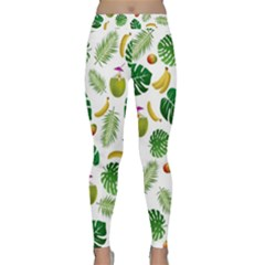 Tropical Pattern Classic Yoga Leggings by Valentinaart