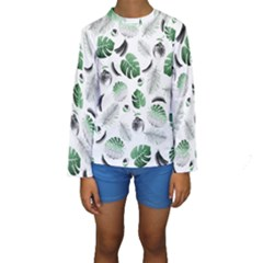 Tropical Pattern Kids  Long Sleeve Swimwear by Valentinaart