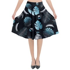 Tropical Pattern Flared Midi Skirt by Valentinaart