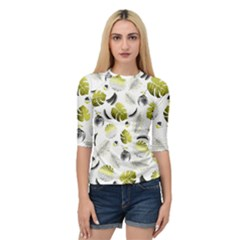 Tropical Pattern Quarter Sleeve Tee