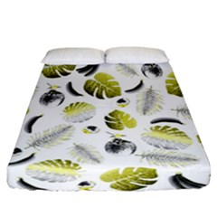Tropical Pattern Fitted Sheet (california King Size)