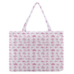 Fish Pattern Medium Zipper Tote Bag by ValentinaDesign