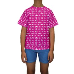 Fish Pattern Kids  Short Sleeve Swimwear by ValentinaDesign