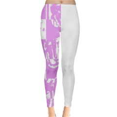 Pink Graffiti Skull Classic Winter Leggings by Skulltops