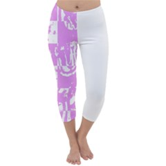 Pink Graffiti Skull Capri Winter Leggings  by Skulltops