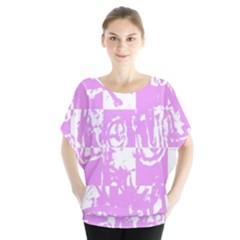 Pink Graffiti Skull Blouse by Skulltops