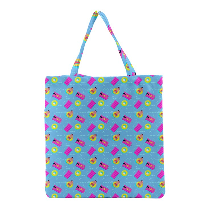 Summer pattern Grocery Tote Bag
