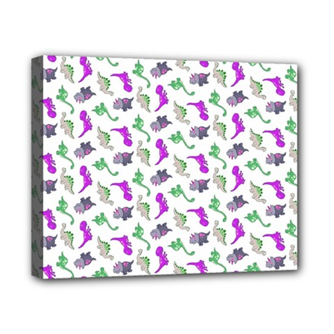 Dinosaurs Pattern Canvas 10  X 8  by ValentinaDesign